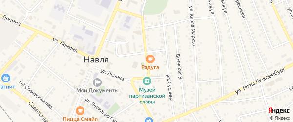 Переулок 30 лет Победы на карте поселка Навли с номерами домов