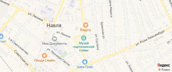 Липы Карповой переулок на карте поселка Навли с номерами домов