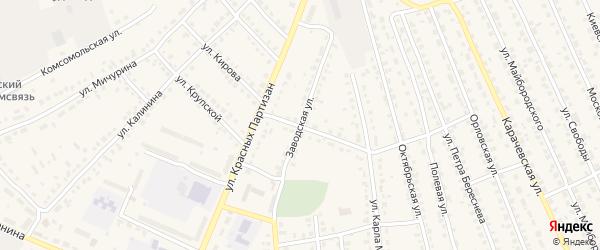 Заводская улица на карте поселка Навли с номерами домов