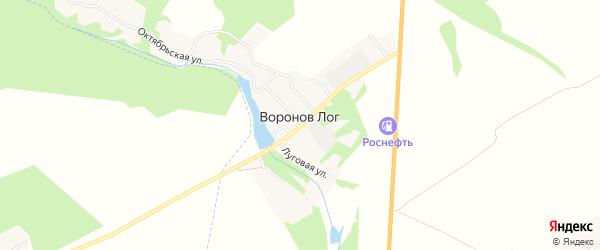 Карта поселка Воронова Лога в Брянской области с улицами и номерами домов