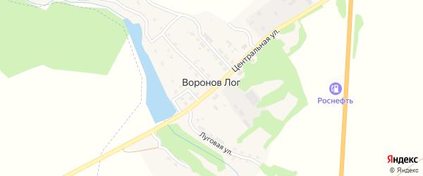 Луговой переулок на карте поселка Воронова Лога с номерами домов
