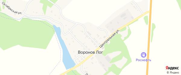 Молодежная улица на карте поселка Воронова Лога с номерами домов