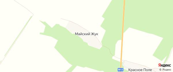 Карта поселка Майского Жука в Брянской области с улицами и номерами домов