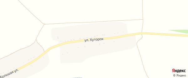 Улица Хуторок на карте Новоямского села с номерами домов