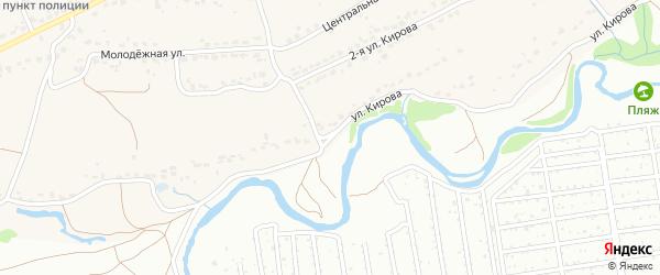 Улица Кирова на карте поселка Большое Полпино с номерами домов