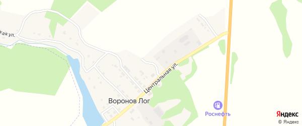 Молодежный переулок на карте поселка Воронова Лога с номерами домов