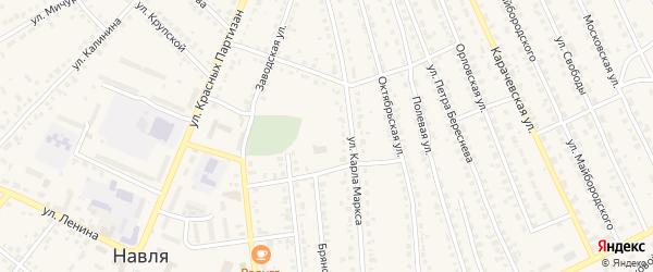 Улица 30 лет Победы на карте поселка Навли с номерами домов