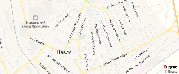 Территория Турбаза Зеленый бор на карте поселка Навли с номерами домов