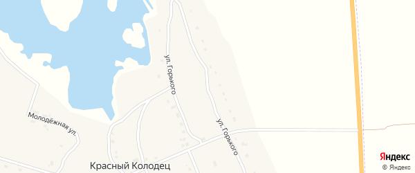Улица Горького на карте поселка Красного Колодца с номерами домов