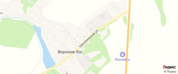 Центральная улица на карте поселка Воронова Лога с номерами домов