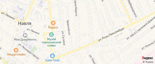 Улица Карла Маркса на карте поселка Навли с номерами домов
