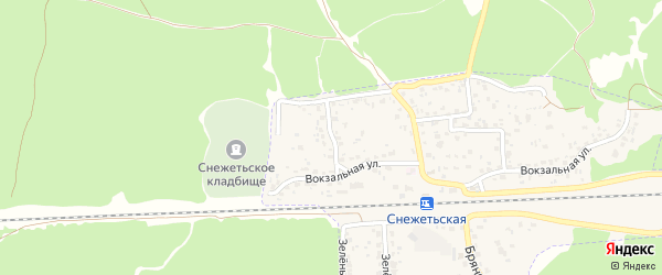 Вокзальный переулок на карте Брянска с номерами домов