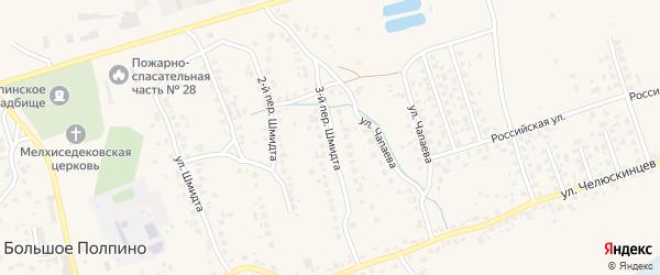 Переулок 3-й Шмидта на карте поселка Большое Полпино с номерами домов