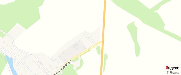 Центральный переулок на карте поселка Воронова Лога с номерами домов