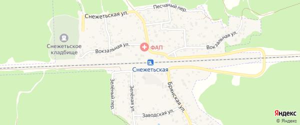 Со Черемушки ул Снежетьская территория на карте Брянска с номерами домов
