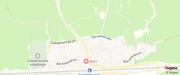 Песчаный переулок на карте Брянска с номерами домов
