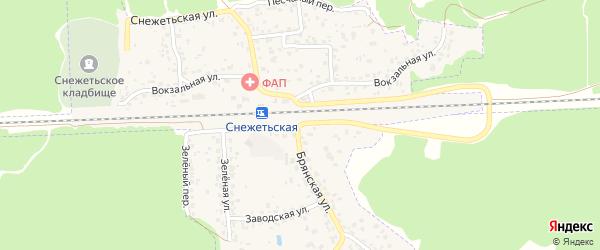 Территория ГО Снежка на карте Брянска с номерами домов