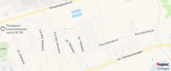 1-й Российский переулок на карте поселка Большое Полпино с номерами домов