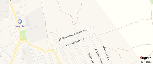 Шоссейная улица на карте поселка Навли с номерами домов