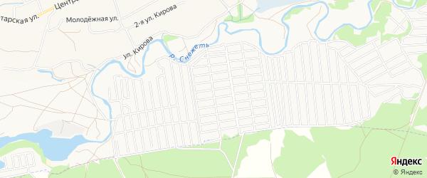 Территория СО Буревестник-2 на карте Брянска с номерами домов