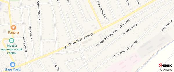 Улица Розы Люксембург на карте поселка Навли с номерами домов