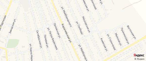 Улица Майбородского на карте поселка Навли с номерами домов