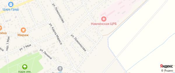 Улица Советской Армии на карте поселка Навли с номерами домов