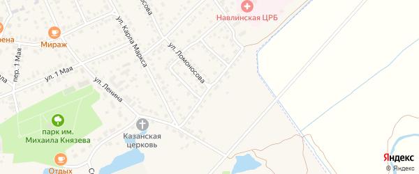 Улица 10 танковая бригада на карте поселка Навли с номерами домов