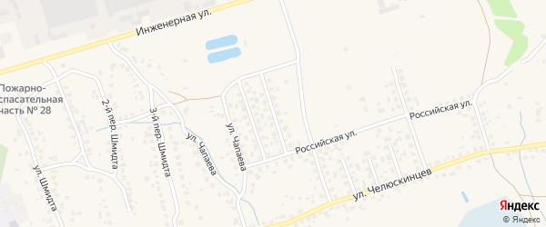 2-й Российский переулок на карте поселка Большое Полпино с номерами домов