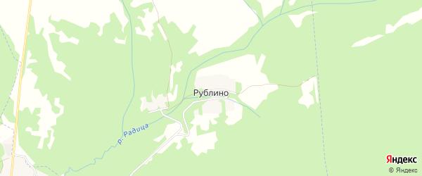 Карта деревни Рублино в Брянской области с улицами и номерами домов