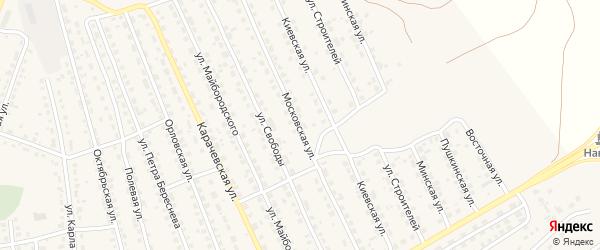 Московская улица на карте поселка Навли с номерами домов
