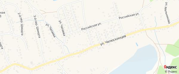 Переулок 1-й Строителей на карте поселка Большое Полпино с номерами домов