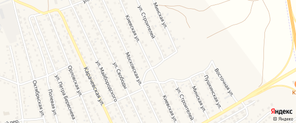 Киевская улица на карте поселка Навли с номерами домов
