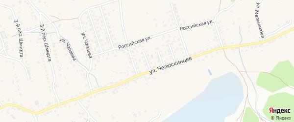 Переулок 2-й Строителей на карте поселка Большое Полпино с номерами домов