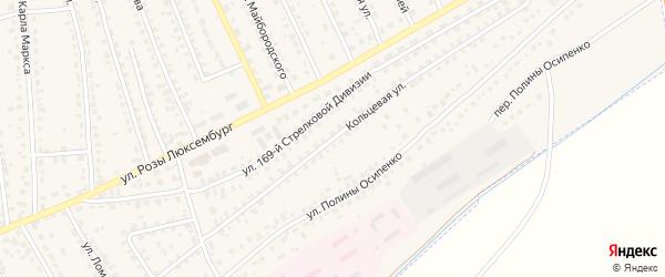 Кольцевая улица на карте поселка Навли с номерами домов