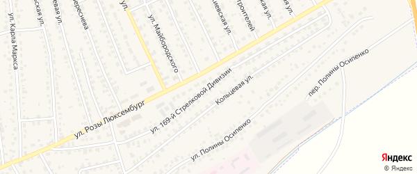 Улица 169 стрелковой дивизии на карте поселка Навли с номерами домов