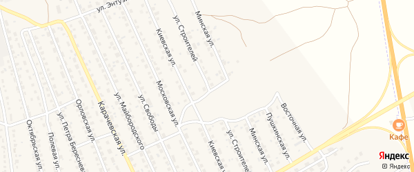 Улица Строителей на карте поселка Навли с номерами домов
