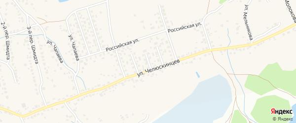 Переулок 3-й Строителей на карте поселка Большое Полпино с номерами домов