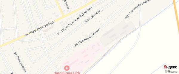 Улица Полины Осипенко на карте поселка Навли с номерами домов