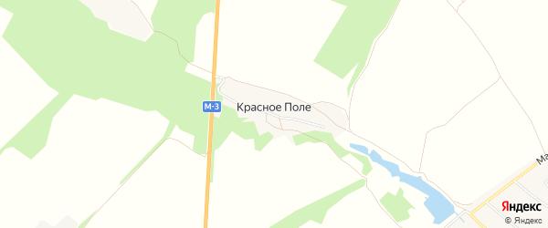 Карта поселка Красного поля в Брянской области с улицами и номерами домов