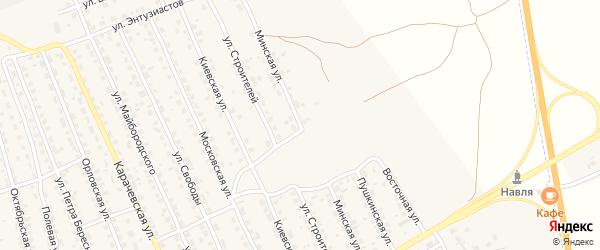 Минская улица на карте поселка Навли с номерами домов