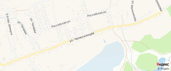 Улица Челюскинцев на карте поселка Большое Полпино с номерами домов