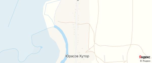 Улица имени Королева на карте села Юрасова Хутора с номерами домов