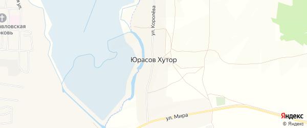 Карта села Юрасова Хутора в Брянской области с улицами и номерами домов