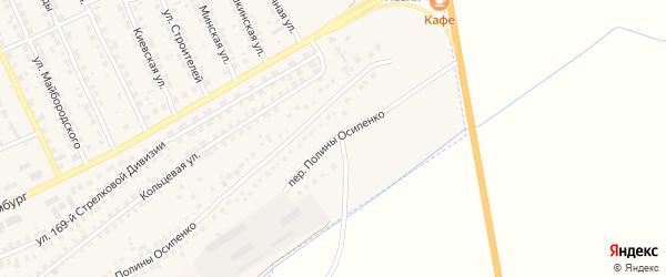 Переулок Полины Осипенко на карте поселка Навли с номерами домов