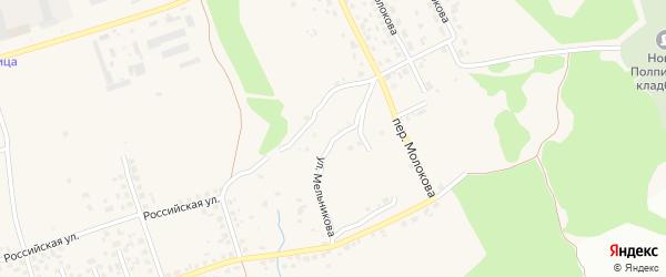 Улица Мельникова на карте поселка Большое Полпино с номерами домов