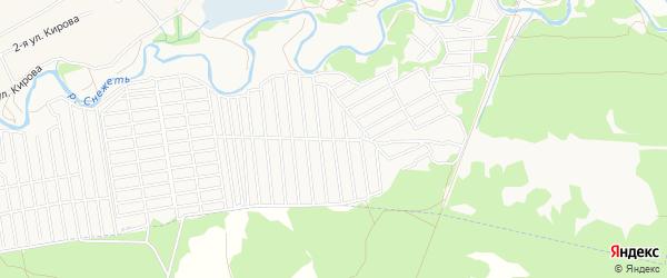 Территория СО Богатырь на карте Брянска с номерами домов