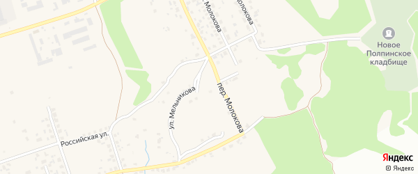 Улица Гукалина на карте поселка Большое Полпино с номерами домов