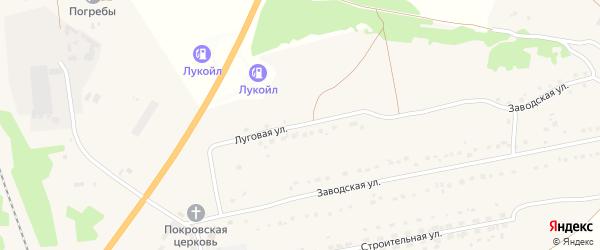 Луговая улица на карте деревни Погребы с номерами домов