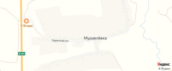 Заречная улица на карте деревни Муравлевки с номерами домов
